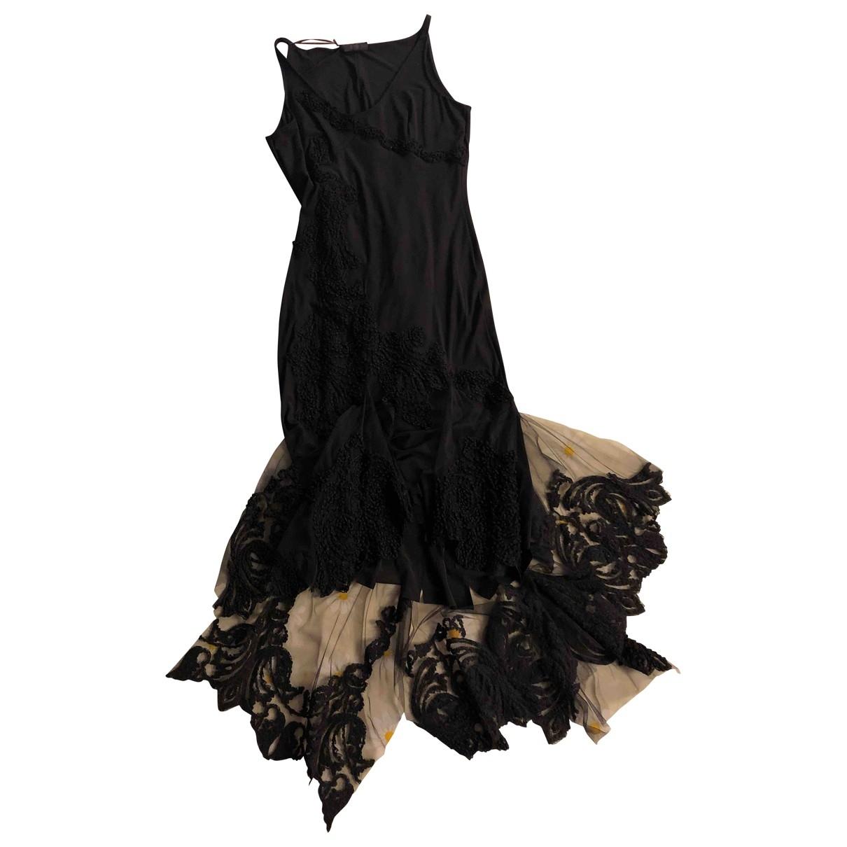 Ermanno Scervino \N Kleid in  Schwarz Viskose