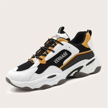 Guys Lace-up Front Mesh Panel Sneakers