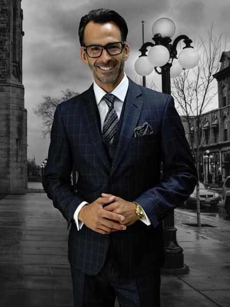 CHARCOAL Statement Plaid Suit