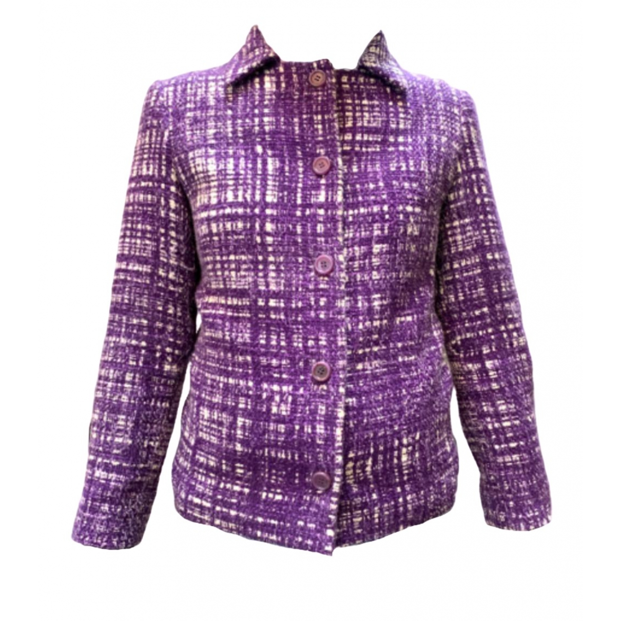 Prada \N Purple Cotton coat for Women 40 IT