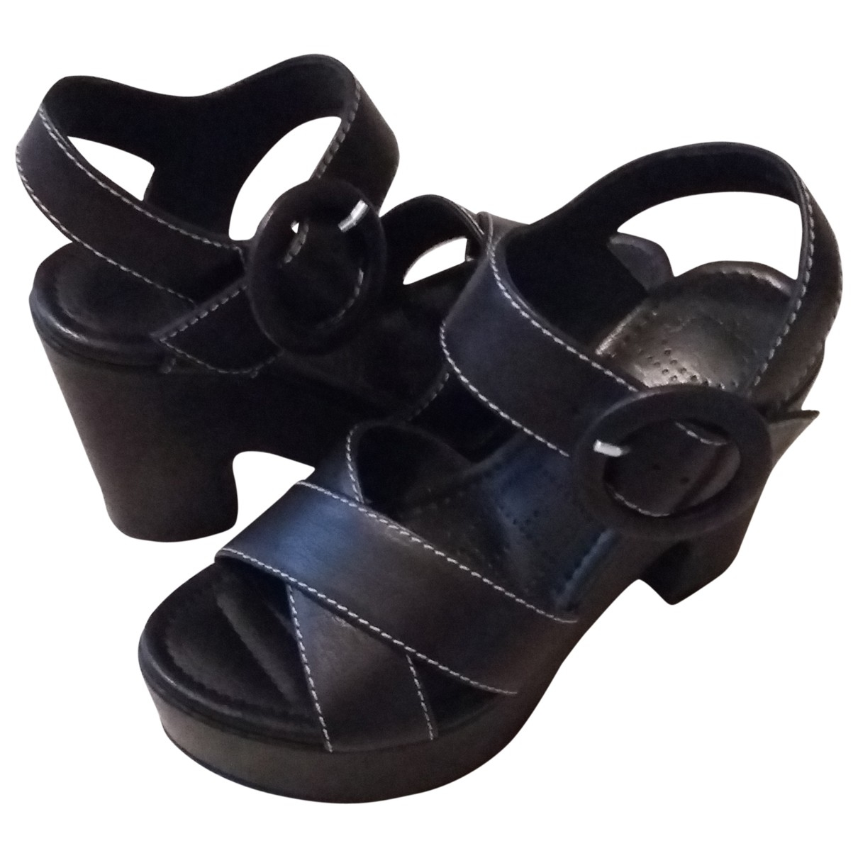 Free Lance \N Black Leather Sandals for Women 35.5 EU