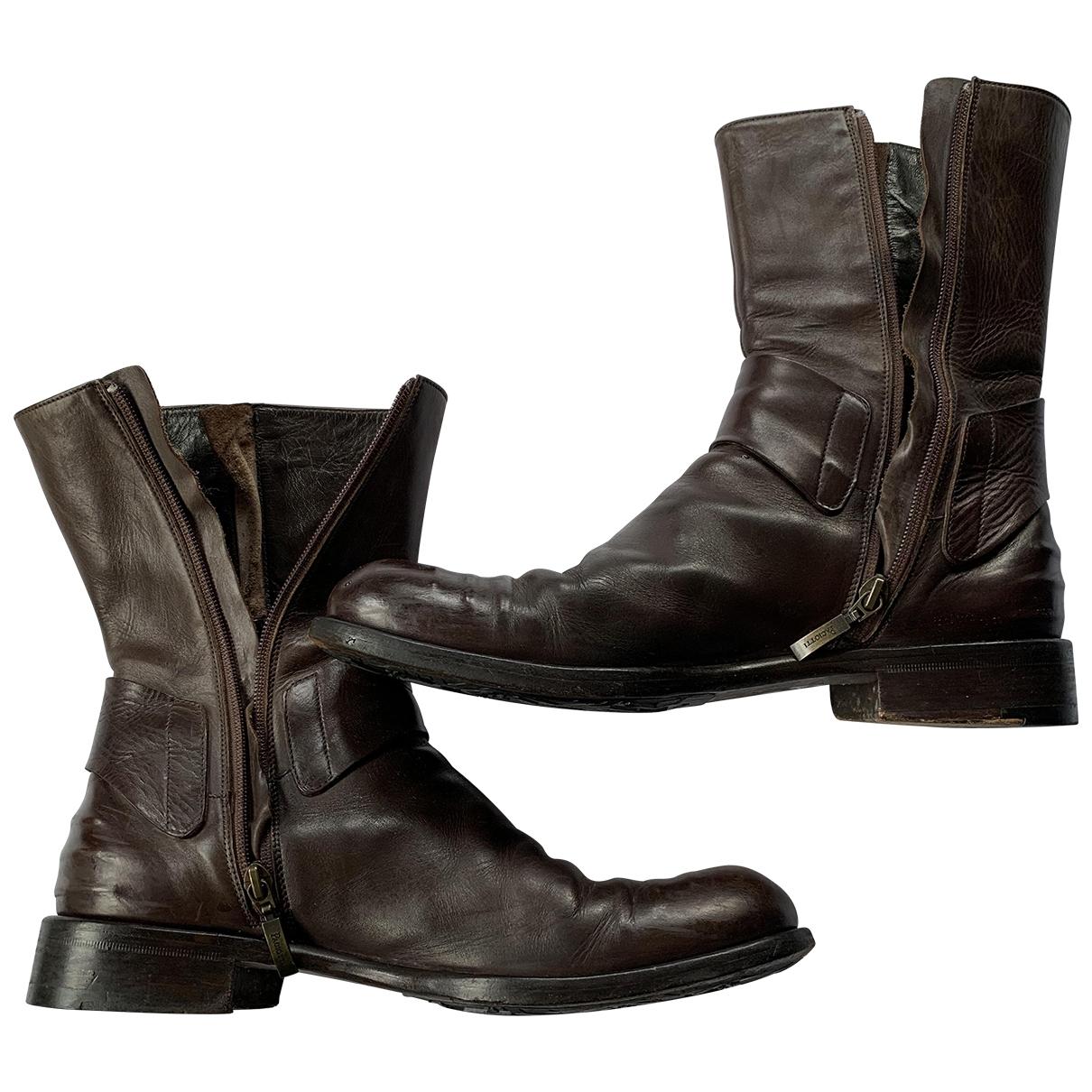 Cesare Paciotti - Bottes.Boots   pour homme en cuir - marron