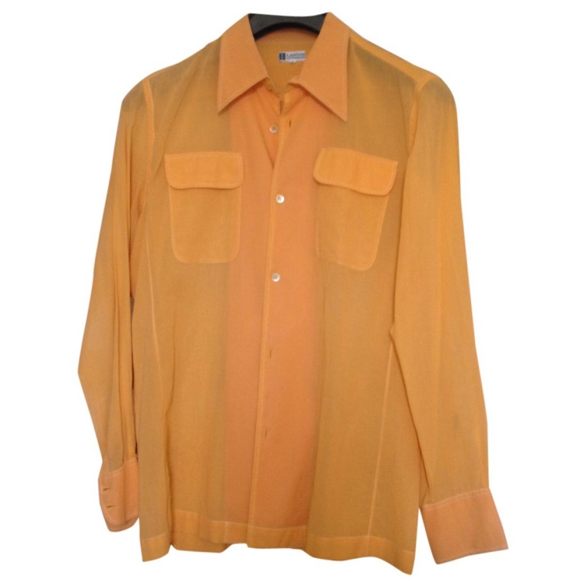 Lanvin - Chemises   pour homme en coton - orange