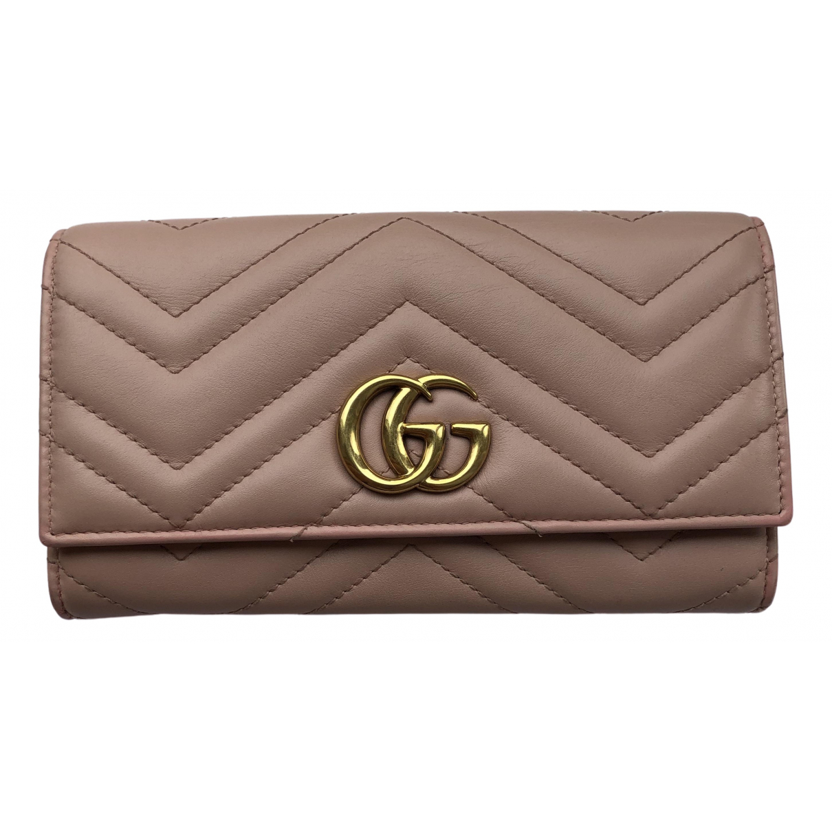 Gucci Marmont Pink Leather wallet for Women \N