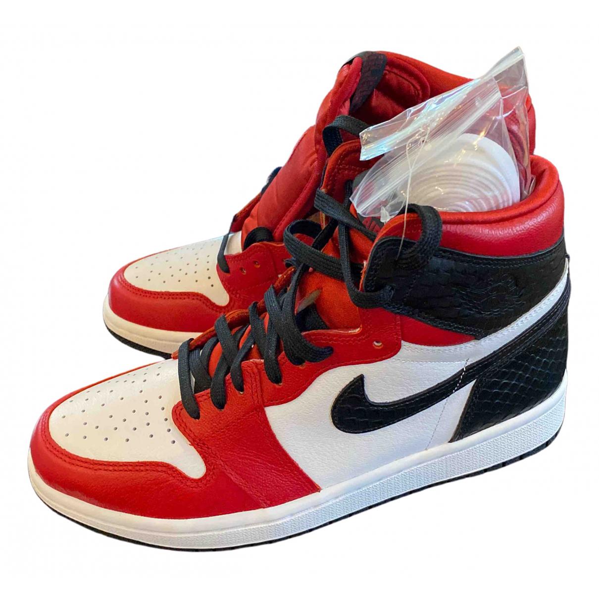 Jordan - Baskets Air Jordan 1  pour femme en cuir - multicolore
