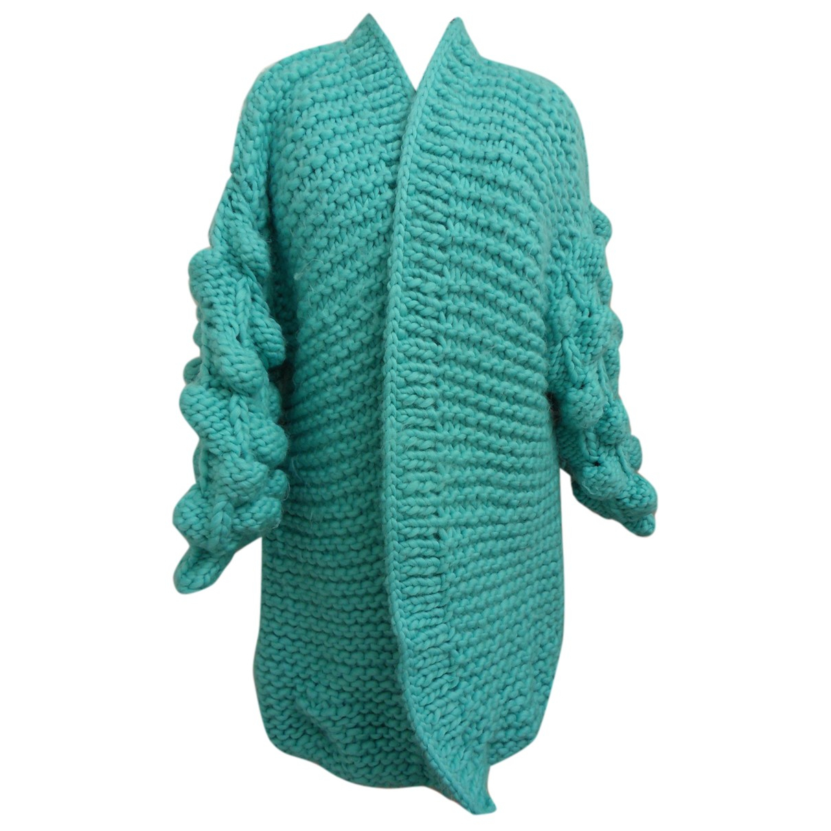 - Pull Oversize pour femme - turquoise