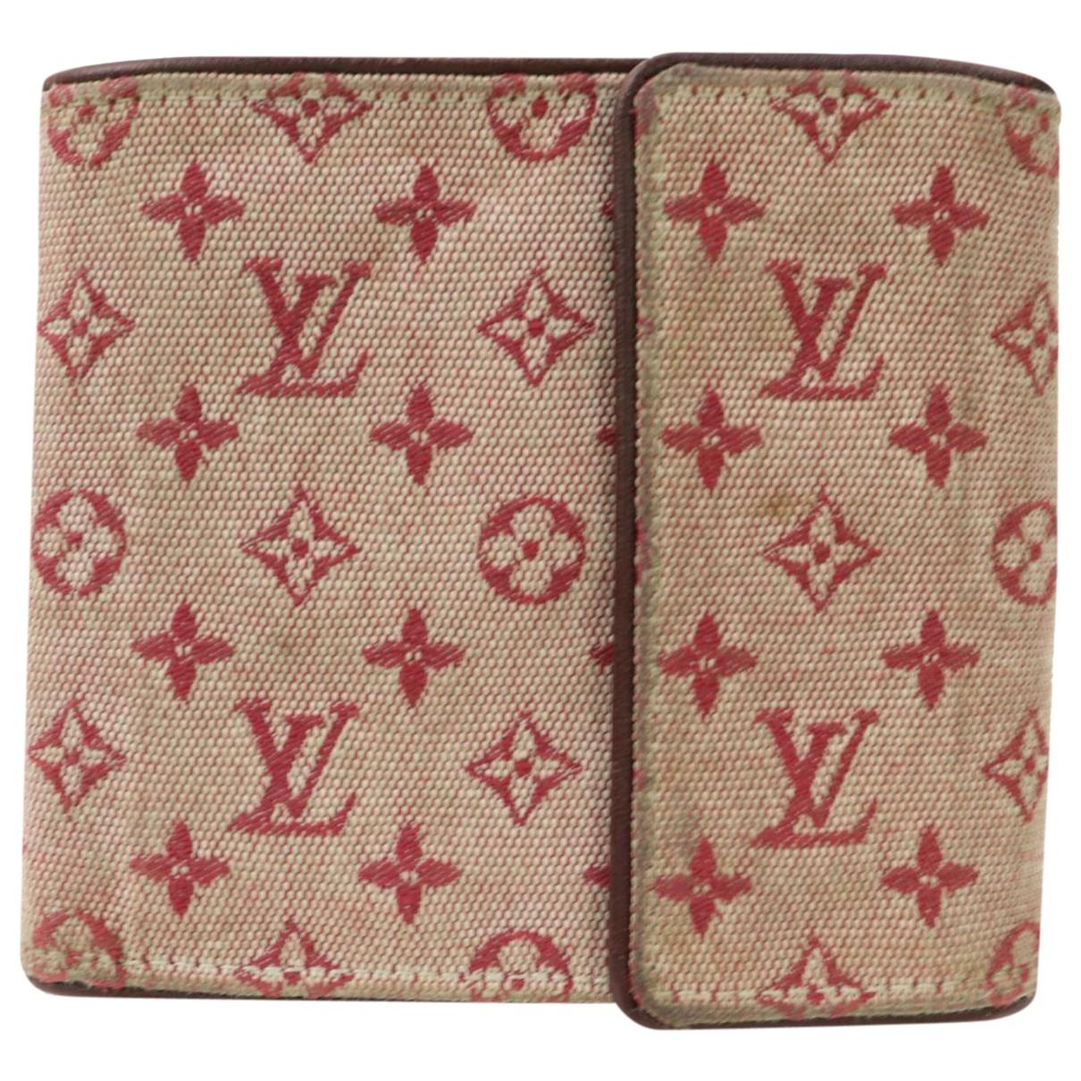 Louis Vuitton - Portefeuille   pour femme en toile - rouge