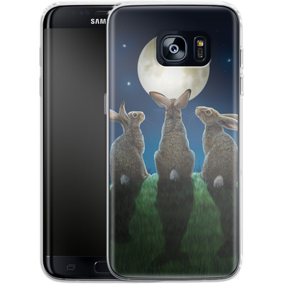 Samsung Galaxy S7 Edge Silikon Handyhuelle - Moonshadows von Lisa Parker
