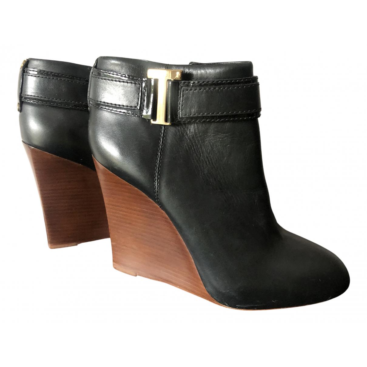 Tory Burch - Boots   pour femme en cuir - noir