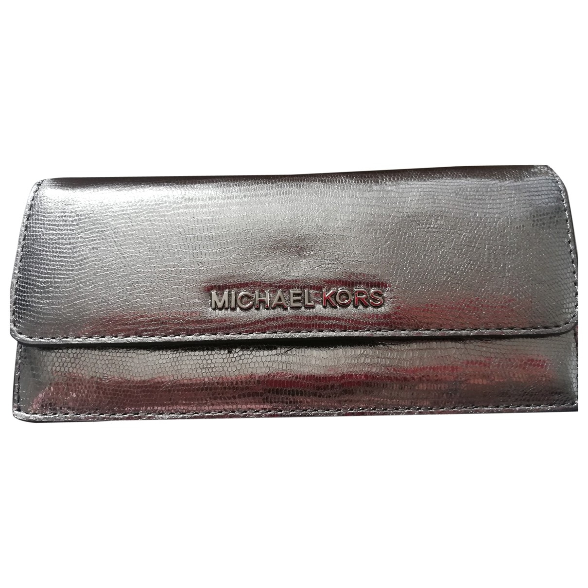 Michael Kors \N Portemonnaie in  Silber Leder