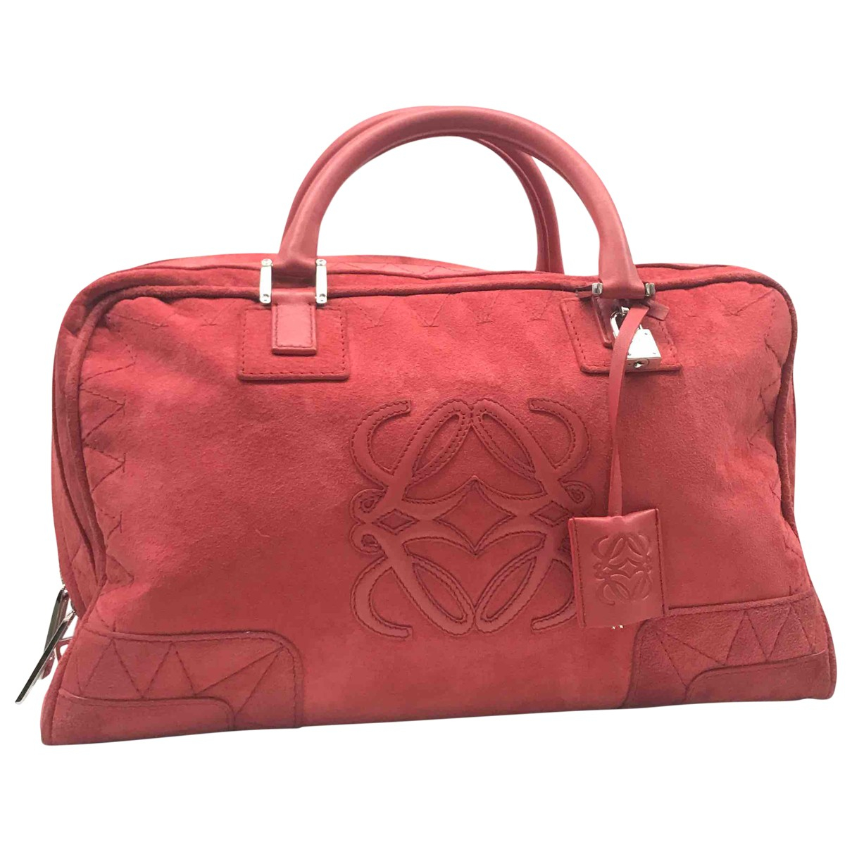 Loewe Amazona Red Suede handbag for Women N
