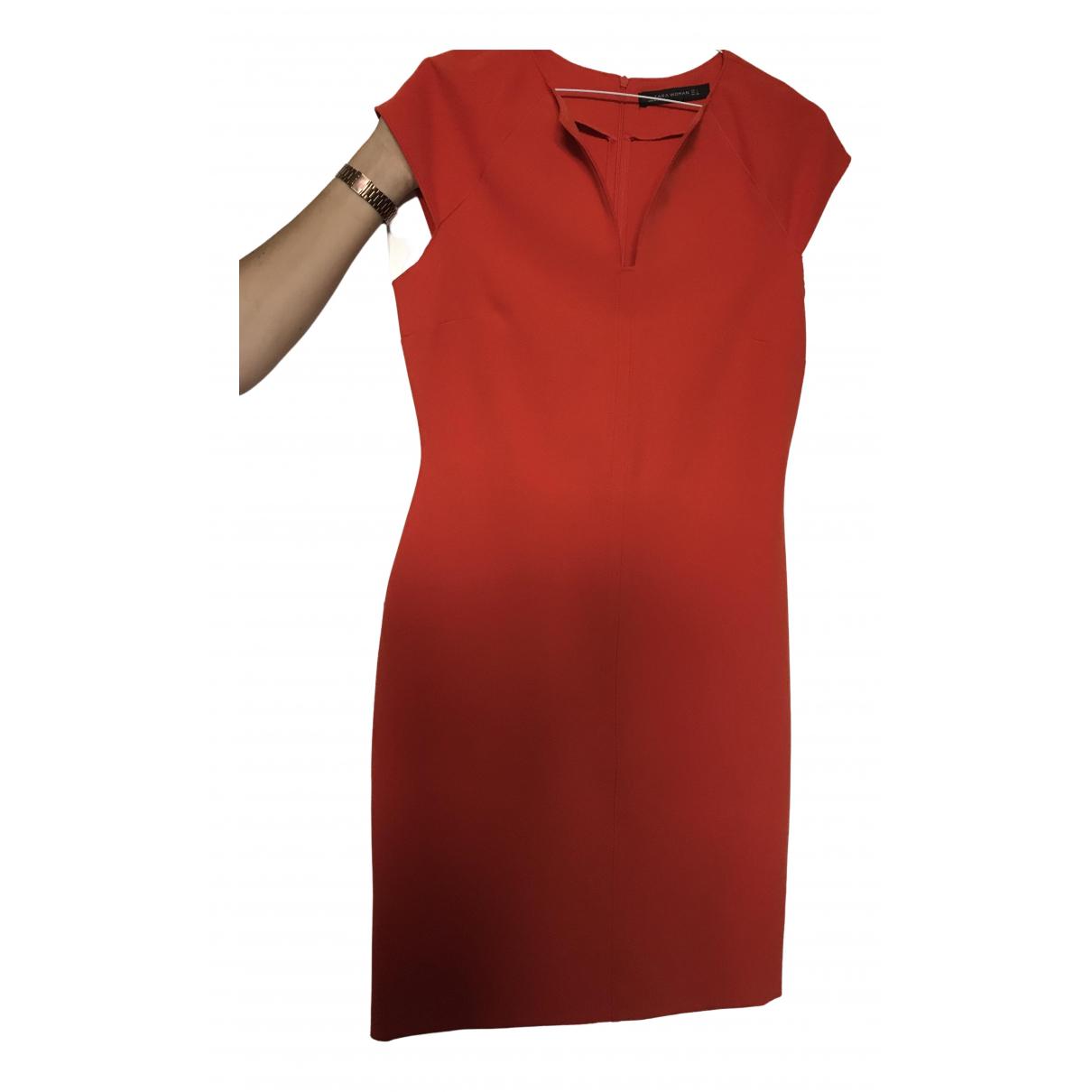 Zara \N Kleid in  Orange Polyester