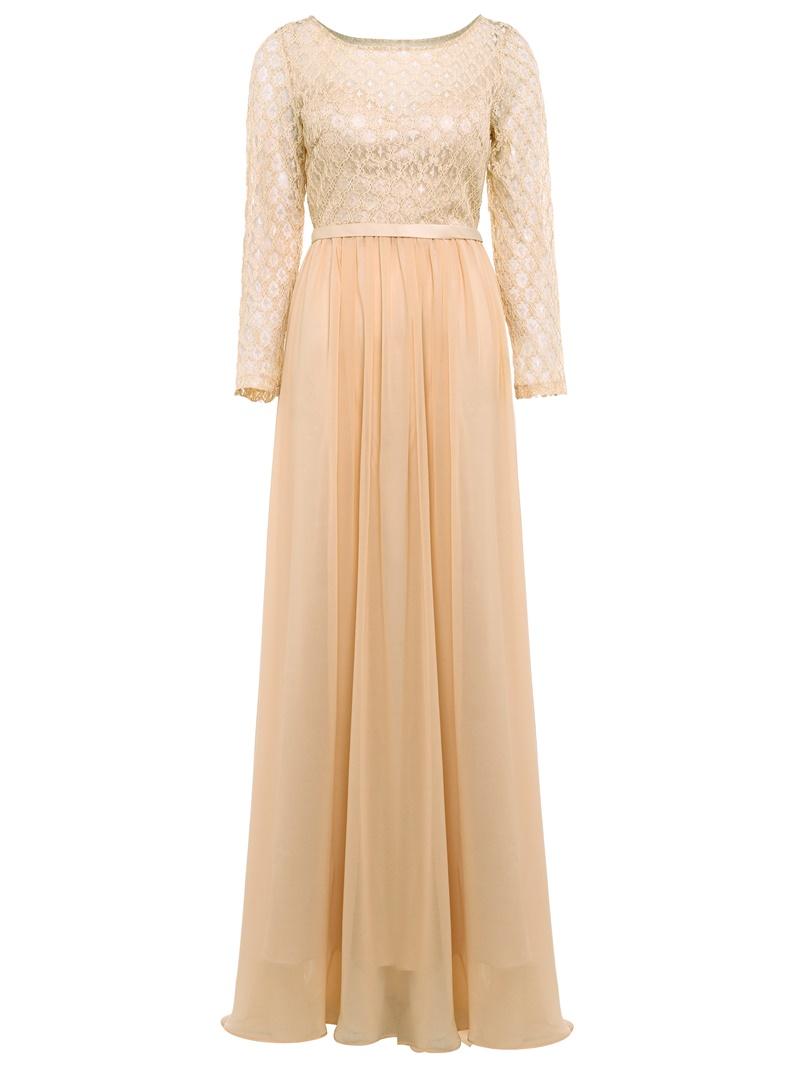Ericdress Lace Appliques A Line Black Evening Dress