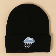 Cloud Embroidered Beanie