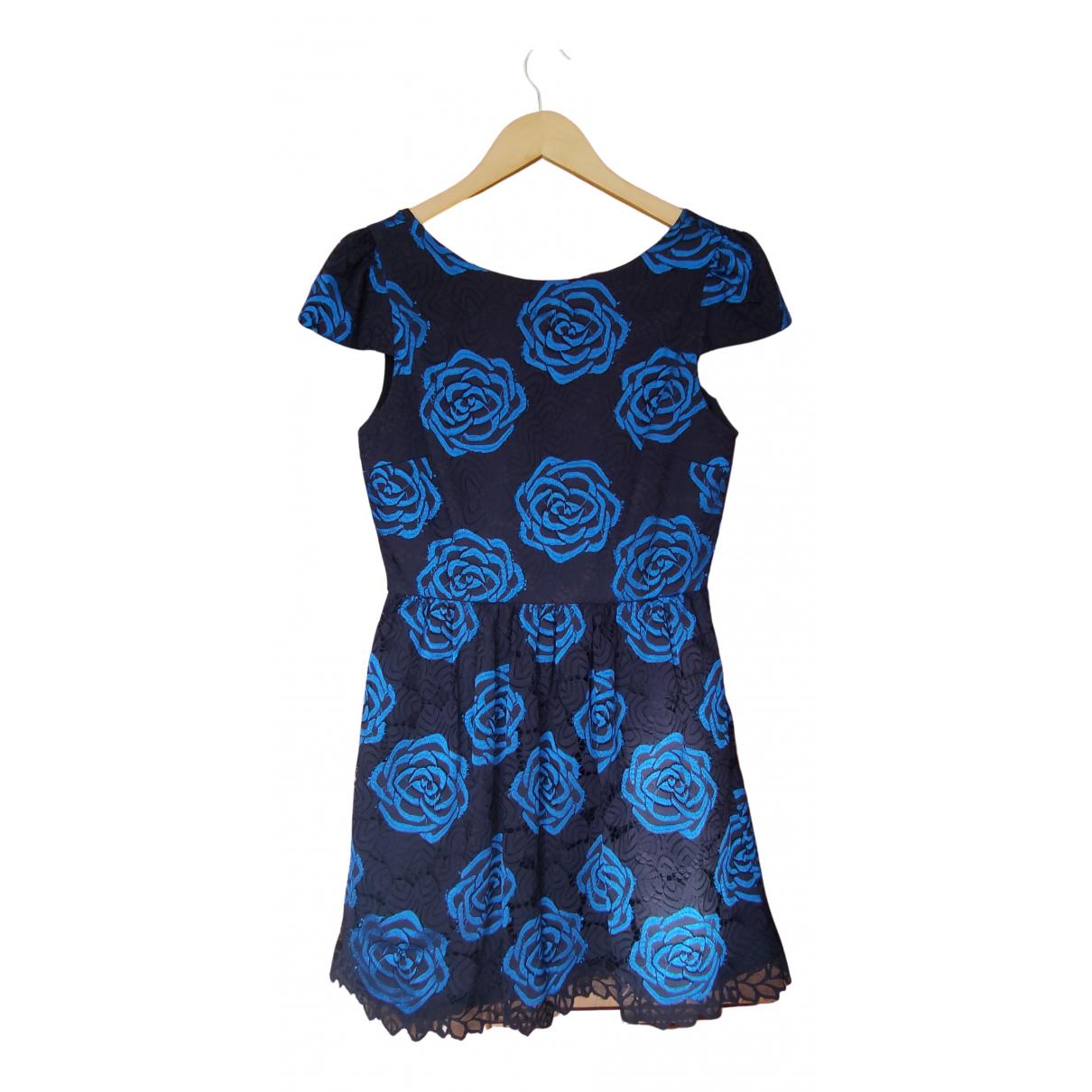 Alice & Olivia \N Kleid in  Blau Spitze