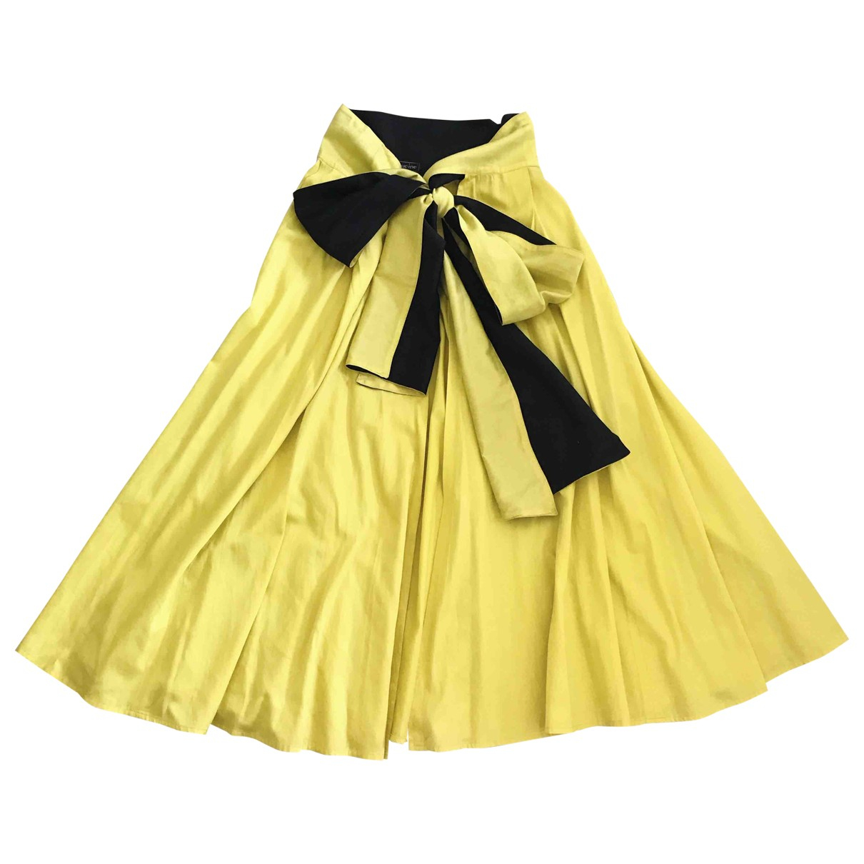 Non Signé / Unsigned \N Yellow Cotton skirt for Women One Size International