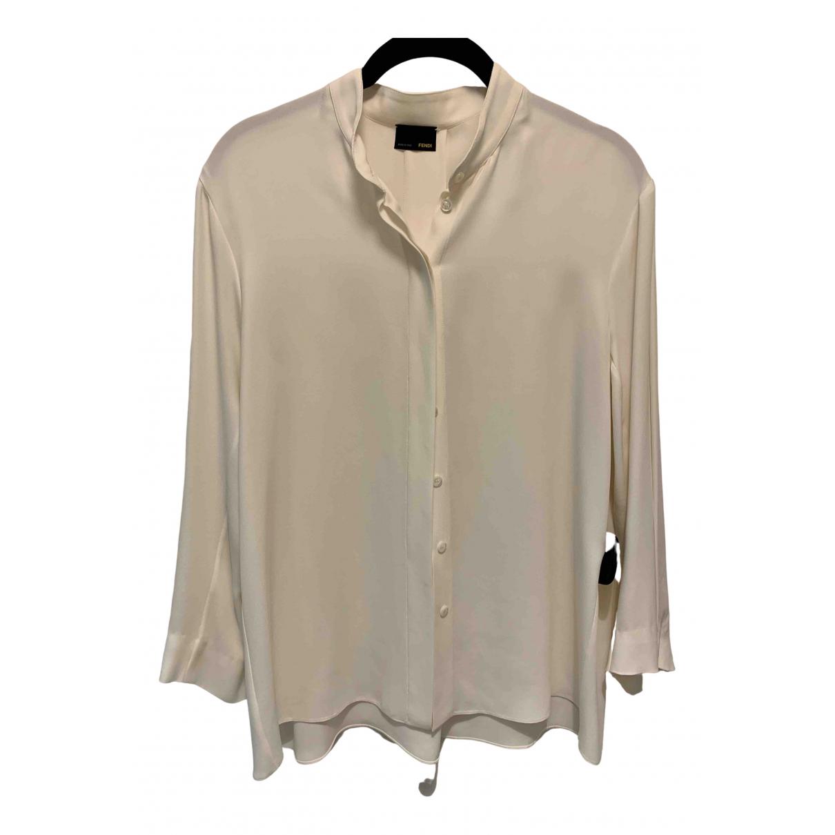 Fendi \N Ecru Silk  top for Women 42 IT