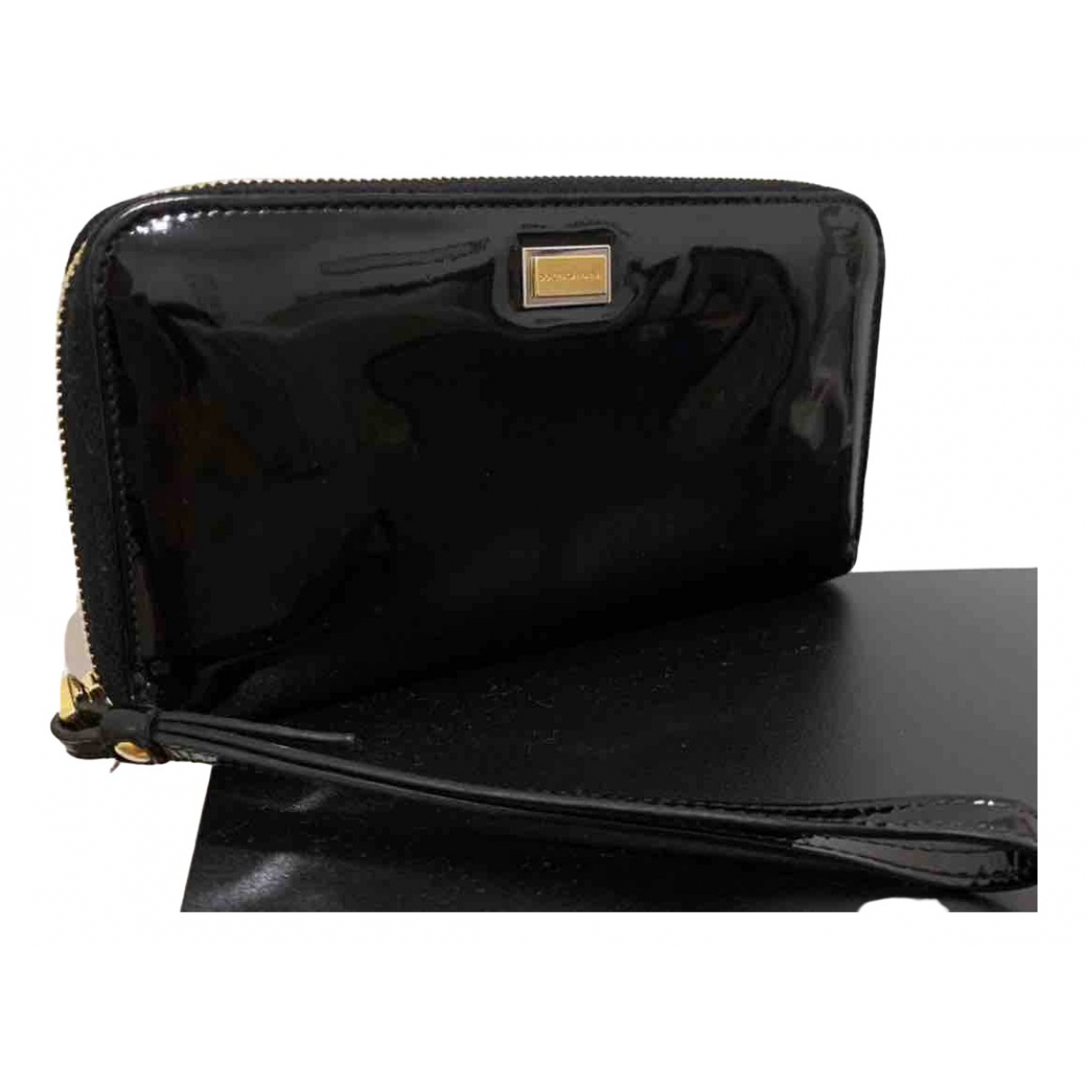 Dolce & Gabbana N Black Patent leather wallet for Women N