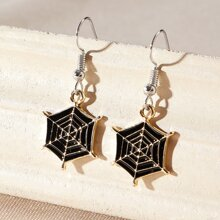 Spider Web Drop Earrings
