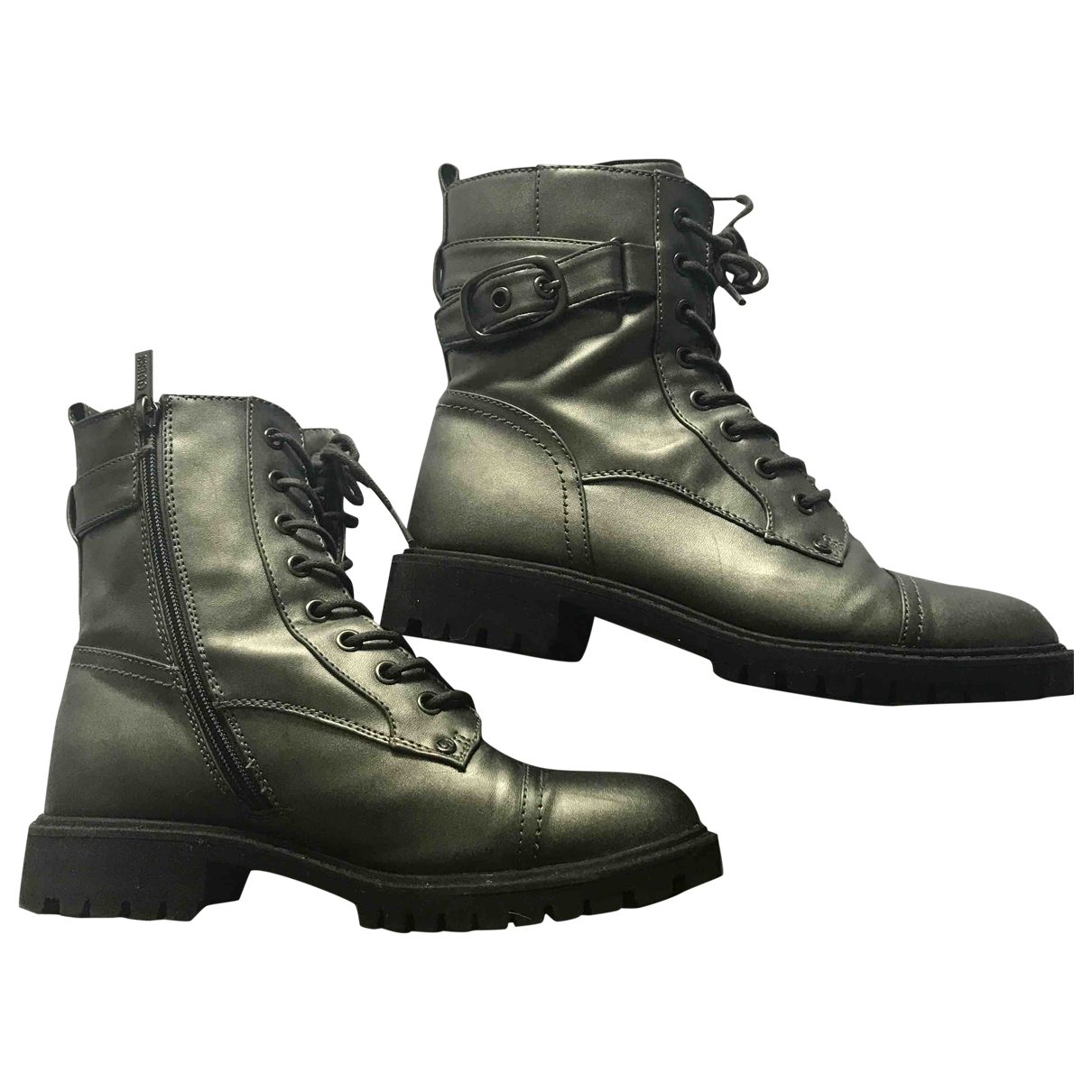 Guess \N Metallic Leather Boots for Women 5 UK