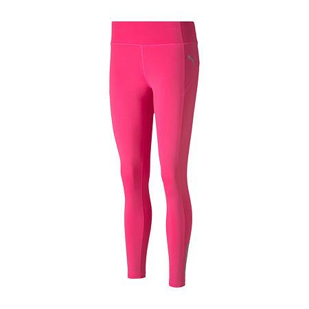 Puma Womens Mid Rise 7/8 Ankle Leggings, Medium , Pink