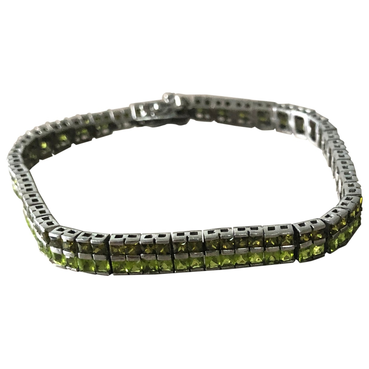 Non Signe / Unsigned \N Armband in  Gruen Silber