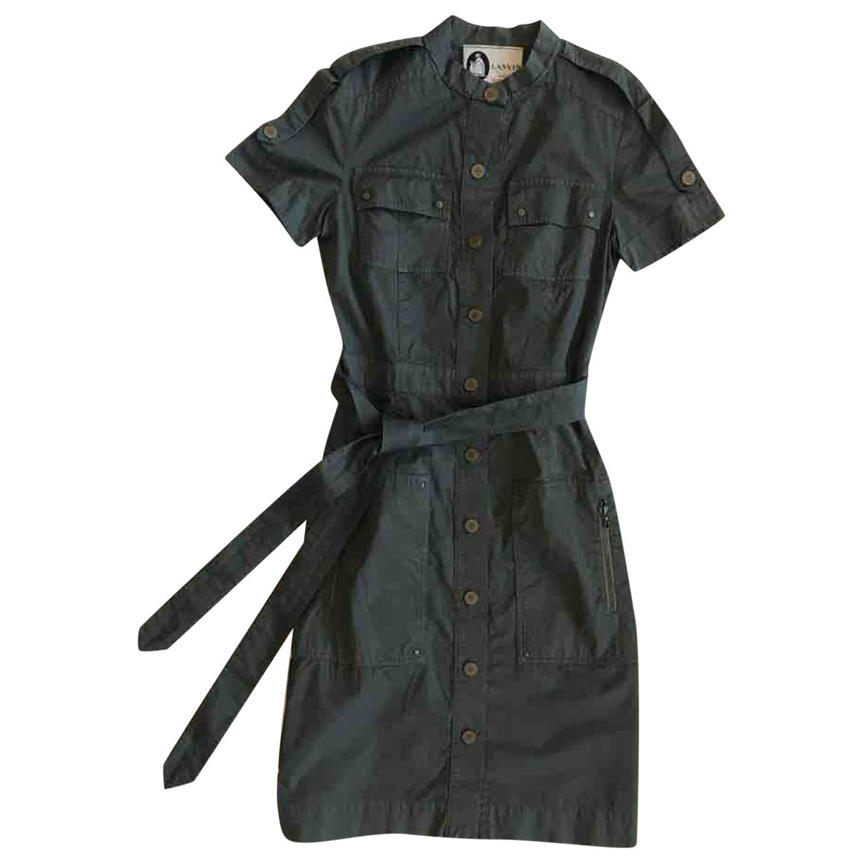 Lanvin - Robe   pour femme en coton - anthracite