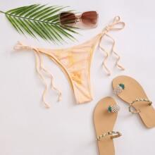Bikini Hoschen mit Batik und seitlichem Band