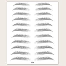 11 Paare Bionischer Augenbrauenaufkleber