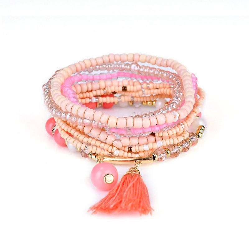 Trendy Bohemian Bracelet Multilayer Tassel Beads Bracelet