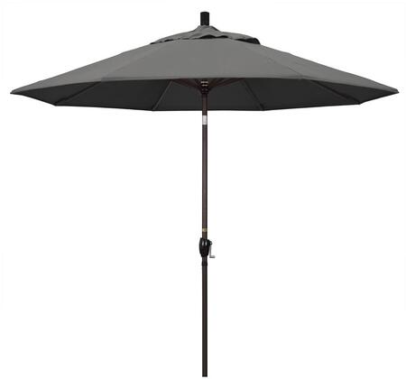 GSPT908117-54048 9' Pacific Trail Series Patio Umbrella With Bronze Aluminum Pole Aluminum Ribs Push Button Tilt Crank Lift With Sunbrella 1A