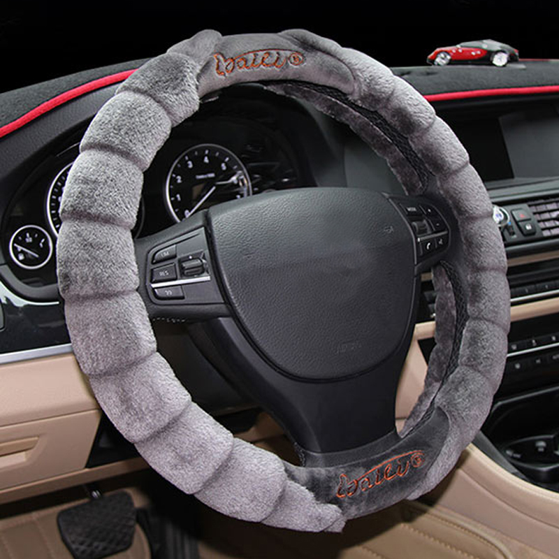 Special Design High-Grade Soft Plush Material Medium Car Steering Wheel Cover