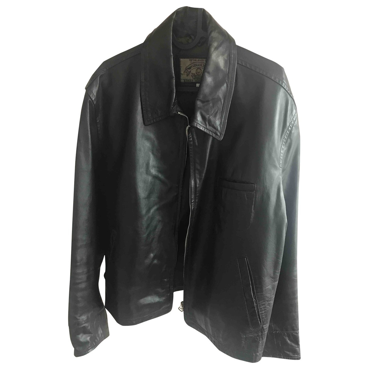 Armani Jeans \N Brown Leather jacket  for Men 50 IT