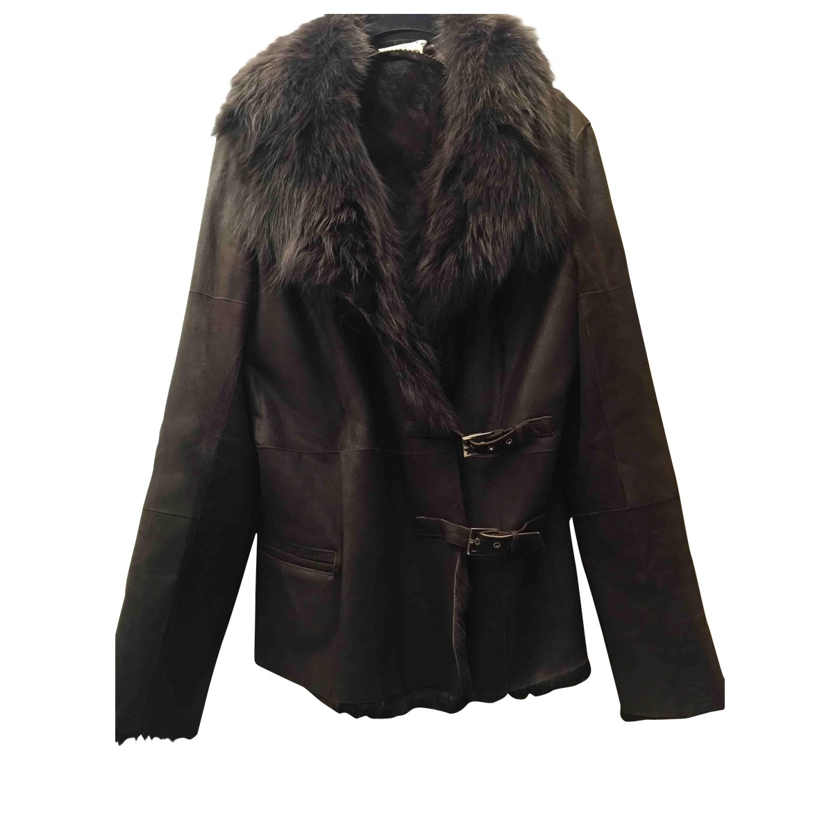 Non Signé / Unsigned \N Brown Rabbit jacket for Women 38 FR