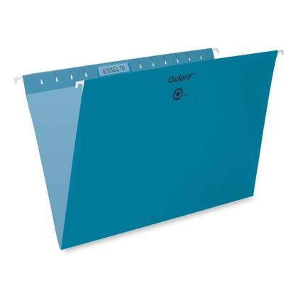 Pendaflex@ Essentials Esselte Oxford Colored Hanging File Folders - Teal ,Legal