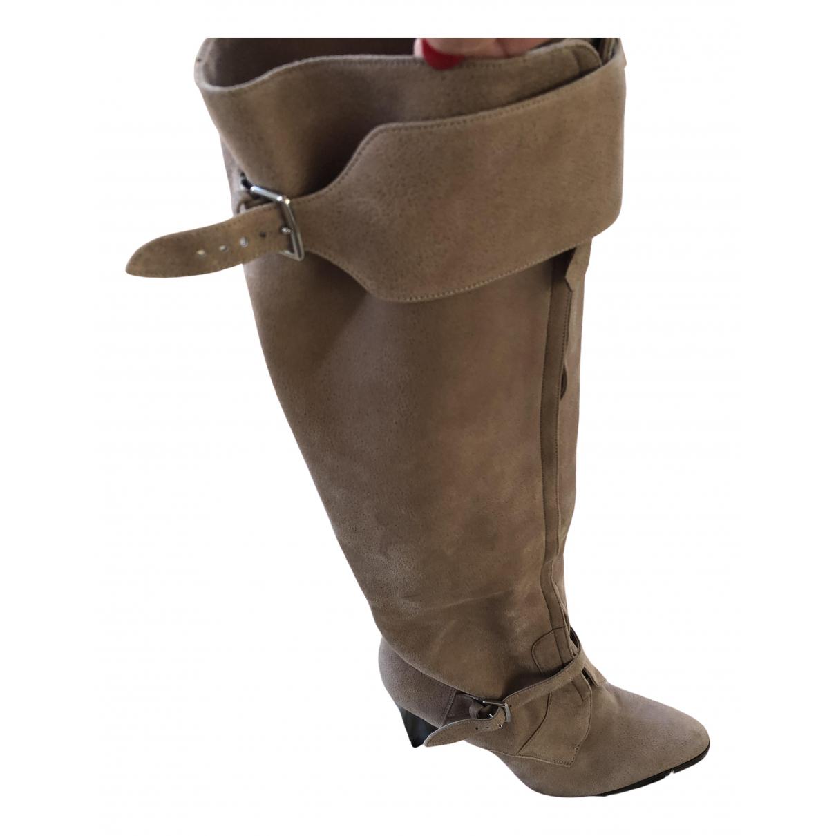 Hermès \N Beige Leather Boots for Women 40 EU