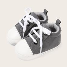 Baby Jungen Sneakers mit Zehenkappe und Band vorn