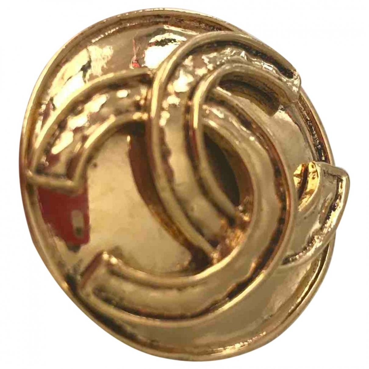 Chanel - Broche   pour femme en metal - dore