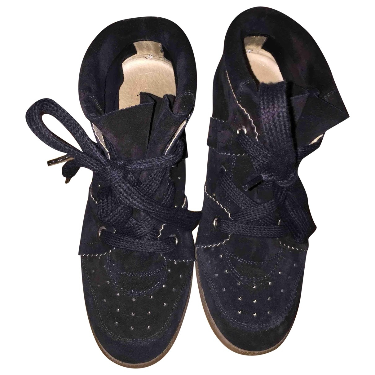 Isabel Marant Betty Black Suede Trainers for Women 39 EU