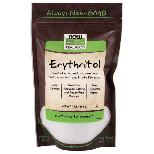 Real Food Erythritol 1 lb by Now Foods
