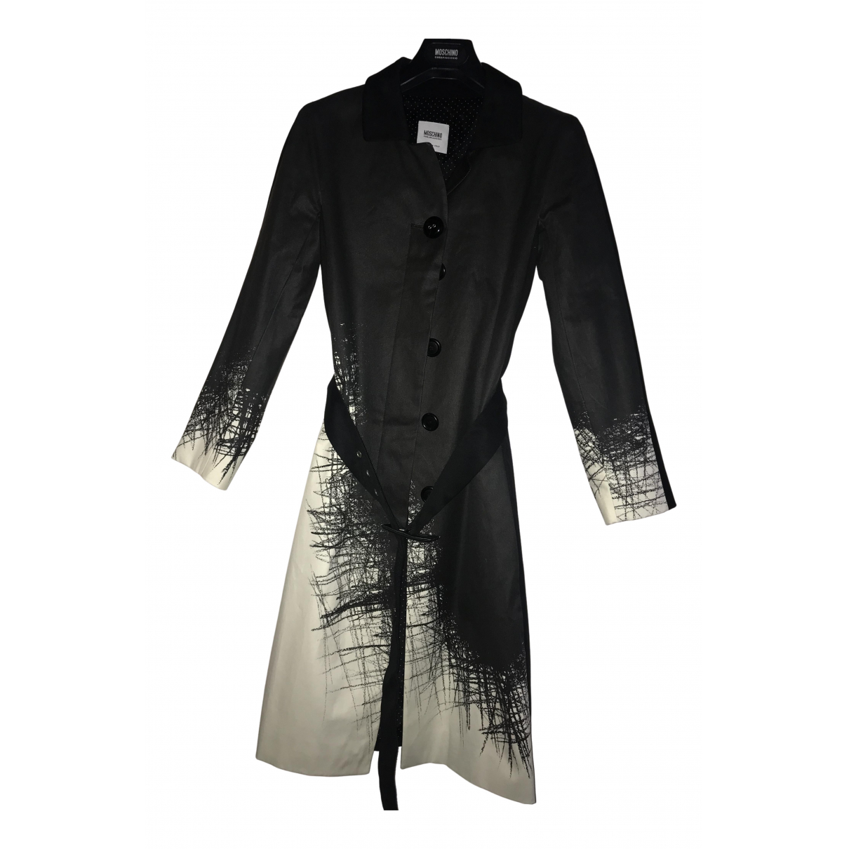 Moschino Cheap And Chic \N Trench in  Schwarz Baumwolle