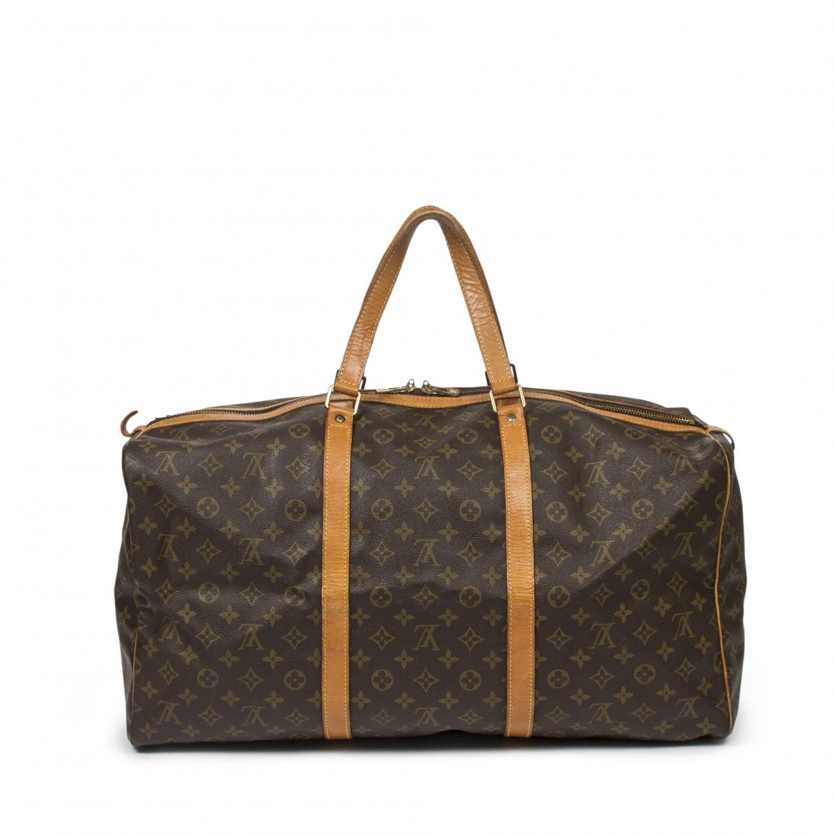 Louis Vuitton - Sac de voyage Sac souple  pour femme en cuir - marron