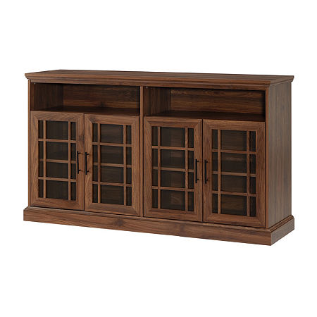 Walker Edison Classic TV Stand, One Size , Brown