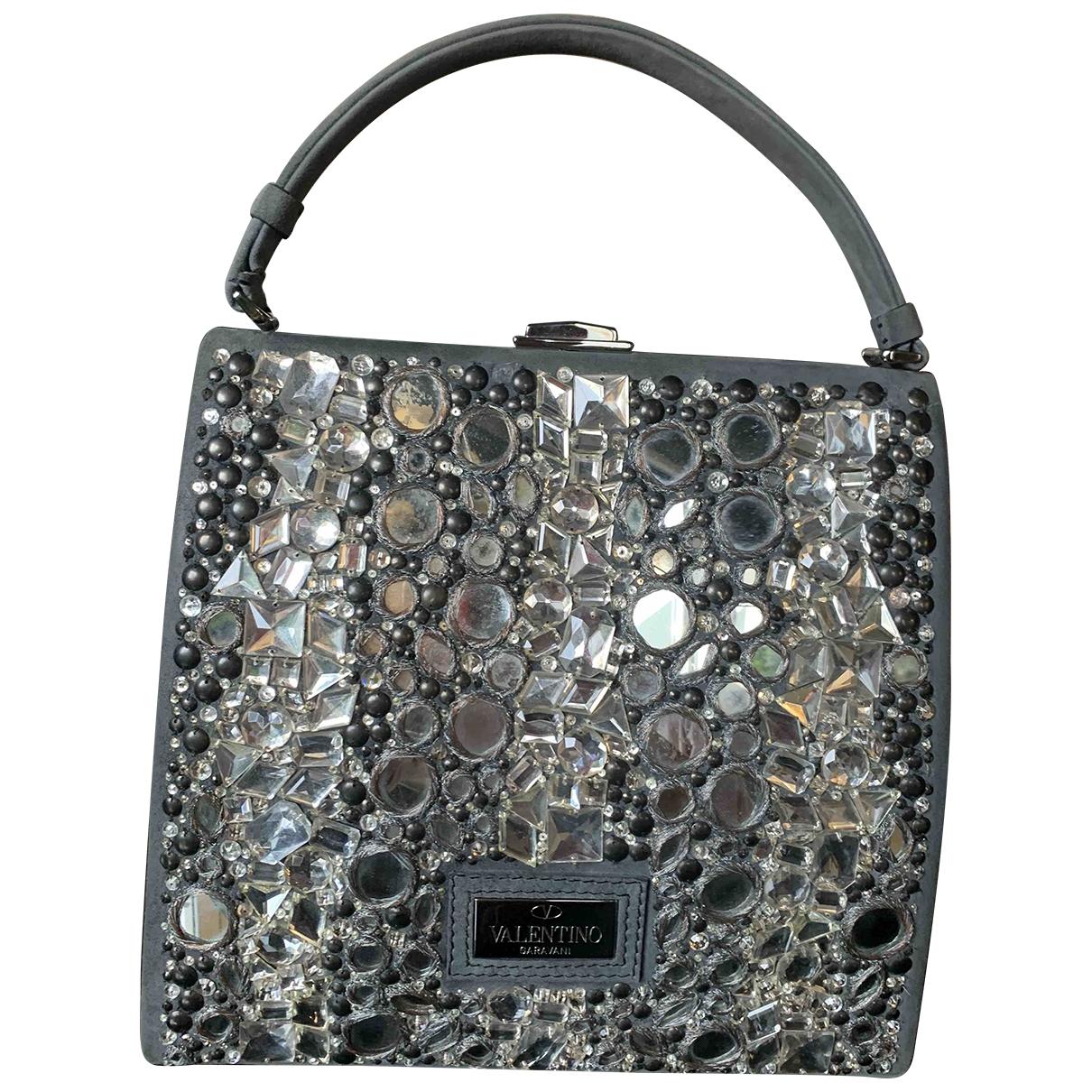 Valentino Garavani \N Grey Glitter handbag for Women \N
