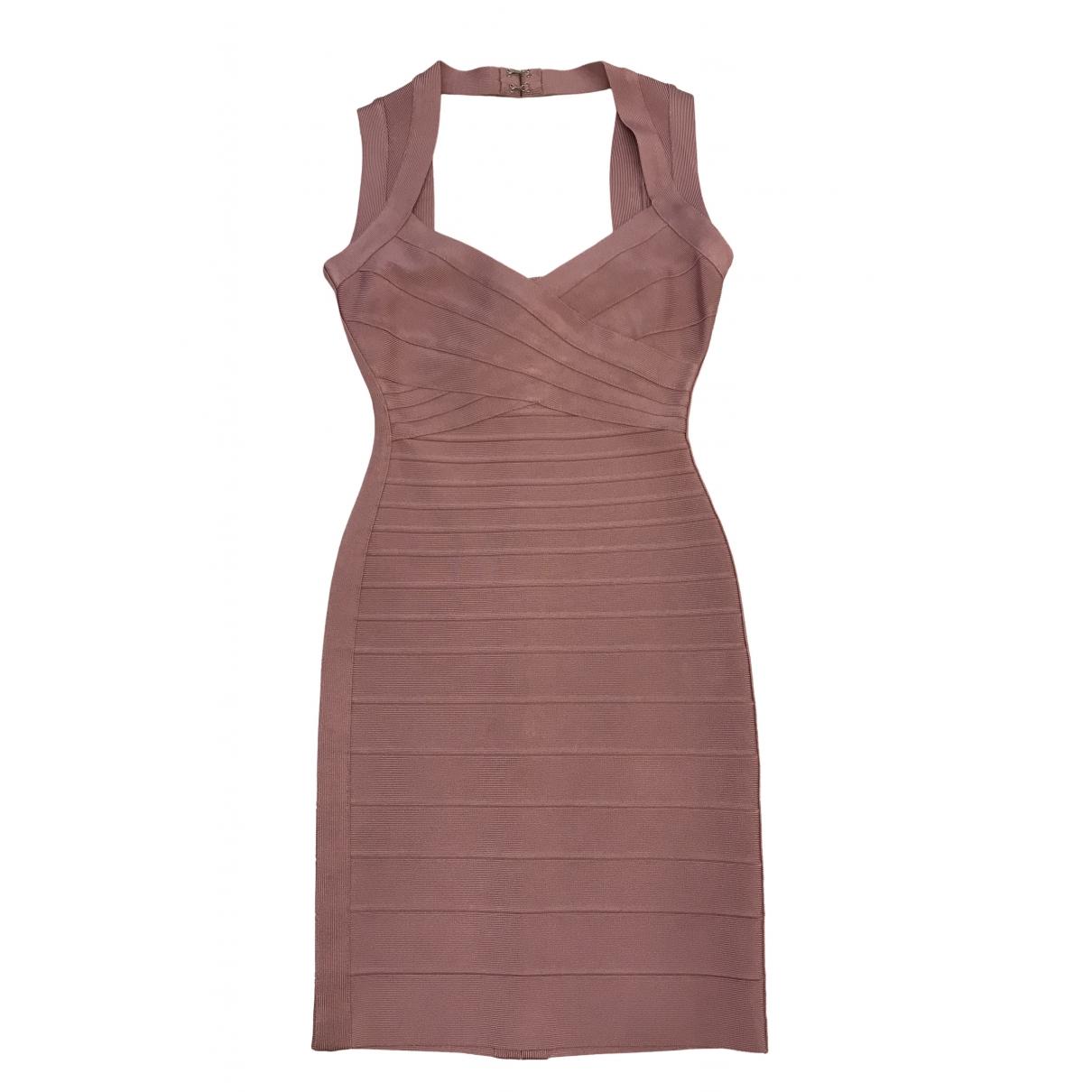 Herve Leger \N Kleid in  Rosa Viskose