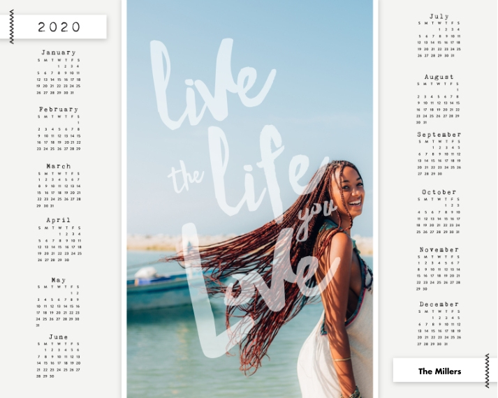 Calendar 16x20 Adhesive Poster, Home Décor -The Life You Love