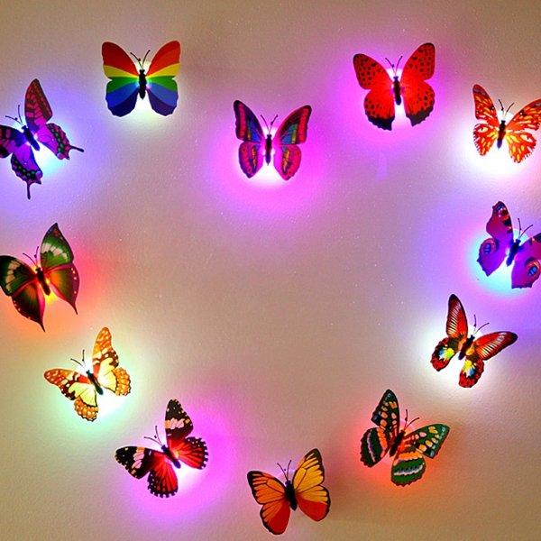 Honana DX-68 Butterfly LED Night Light Lamp With Suction Christmas Wedding Decor