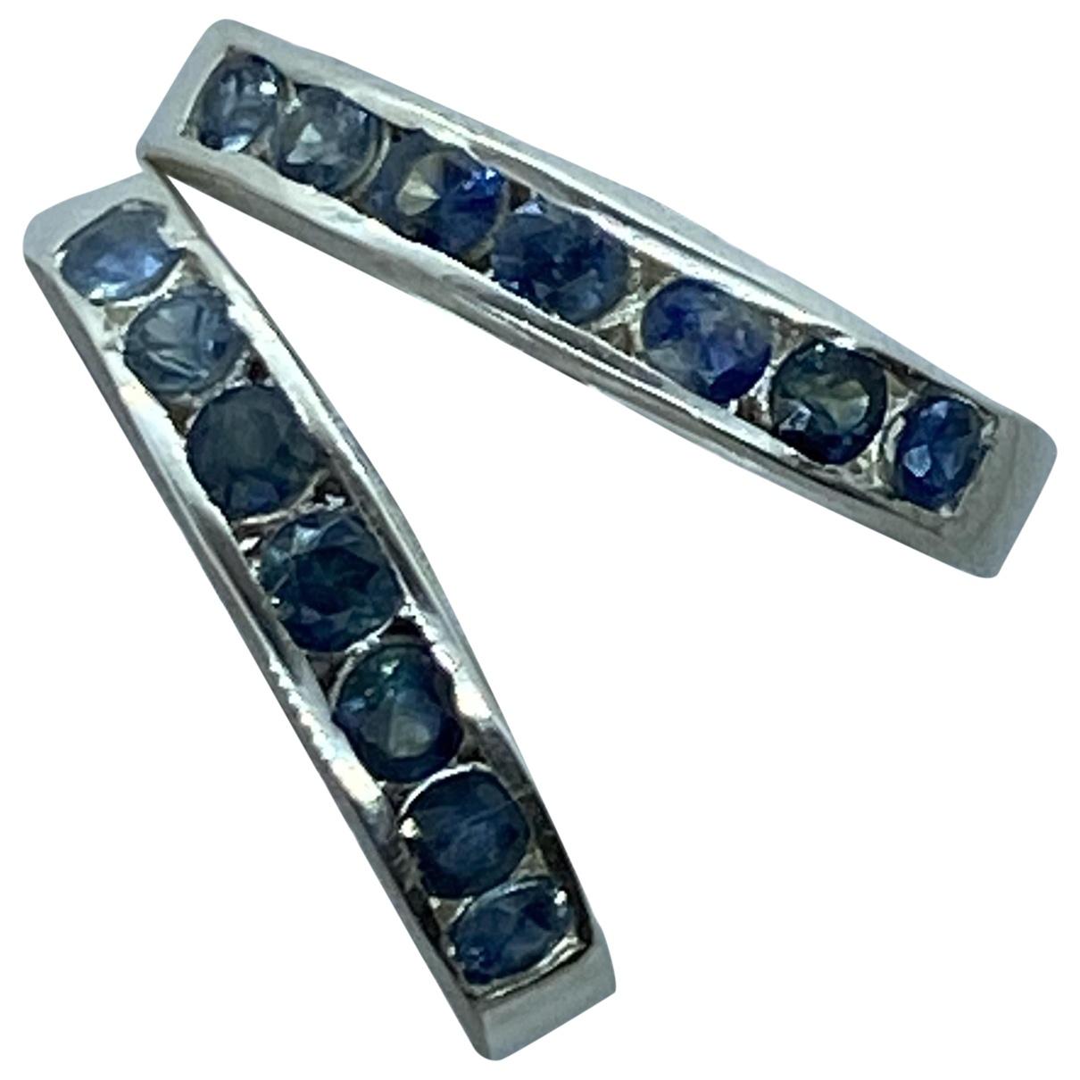 - Bague Saphir pour femme en argent - bleu