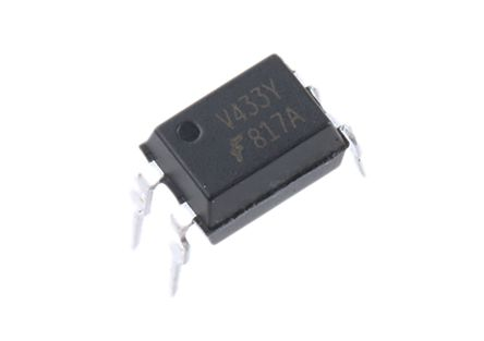 ON Semiconductor , FOD817A300 DC Input Transistor Output Optocoupler, Through Hole, 4-Pin DIP-B (5)