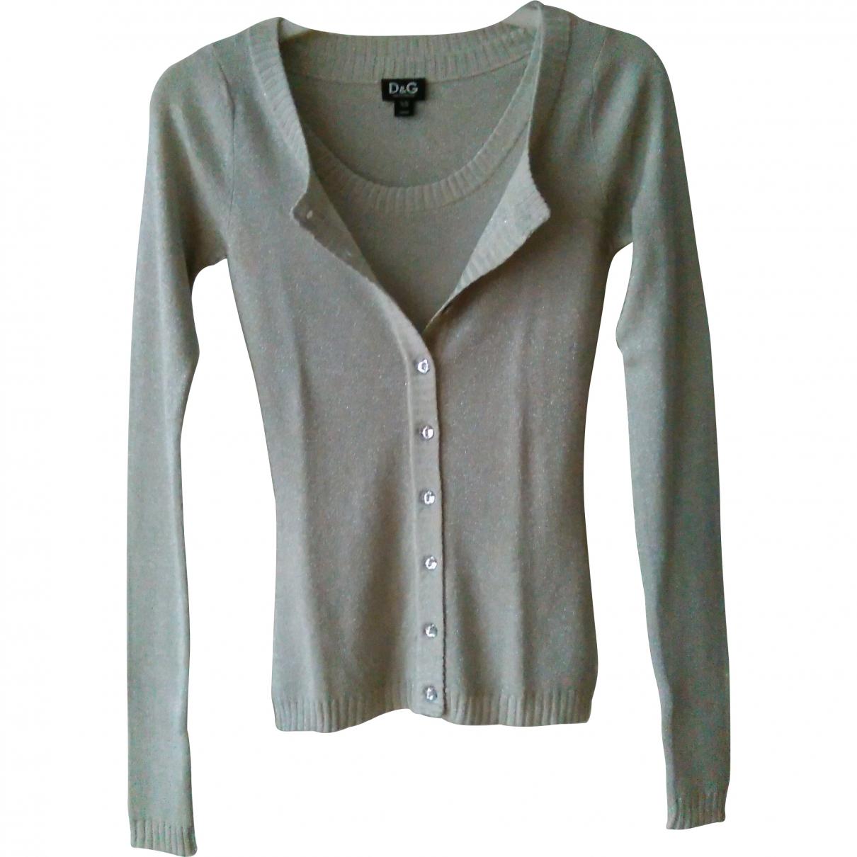 D&g \N Silver Silk Knitwear for Women 38 IT